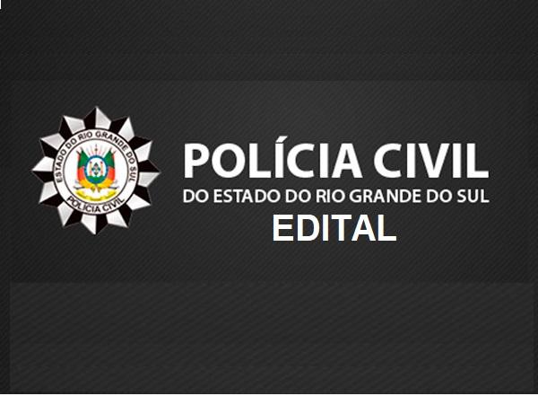 Edital Concurso Polícia Civil RS 2021