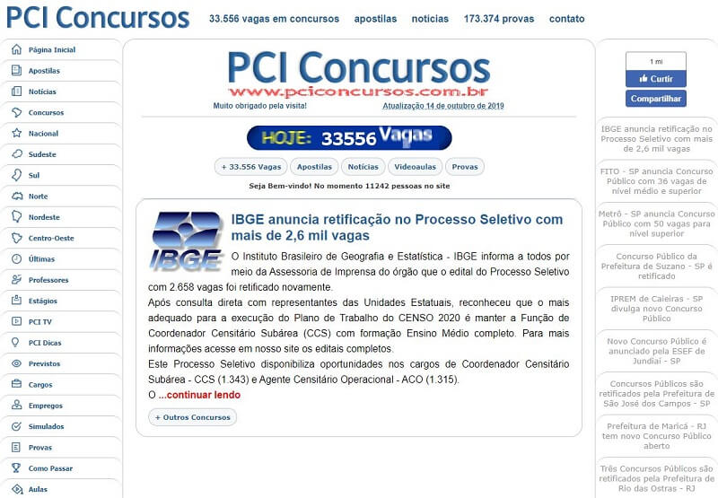 Concursos Abertos PCI Concursos
